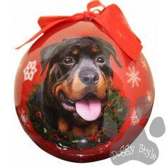 Rottweiler Shatterproof Dog Breed Christmas Ornament