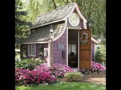 Of all the she sheds / Equity Northwest Real Estate Meridian - Beautiful Gardens., - Of all the she sheds / Equity Northwest Real Estate Meridian – Beautiful Gardens…, - Build A Playhouse, Backyard Playhouse, Backyard Sheds, Pink Playhouse, Garden Sheds, Garden Houses, Outdoor Sheds, Garden Cottage, Shed Design