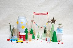Tabletop holiday village (printables)