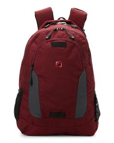 "Swiss Gear Crimson 16"" Laptop Backpack"