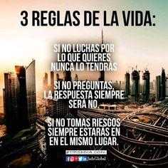 Las 3 reglas basicas de la vida.