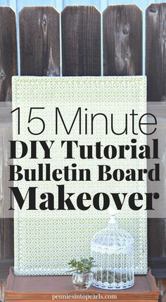 Learn how to makeover an old bulletin board in less than 20 minutes and for just a couple bucks! This is the perfect DIY makeover for an old thrift store bulletin board find. Step-by-step directions with tips on where to get the cheapest supplies! Local Thrift Stores, Dollar Stores, Diy Home, Home Crafts, Diy Crafts, Wood Router, Wood Lathe, Cnc Router, Cork Art