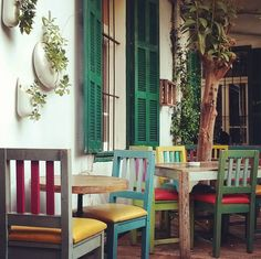 A cafe in Beirut