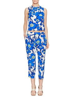 Easy Floral Cropped Pant from It Girl Trend: Bold Prints on Gilt