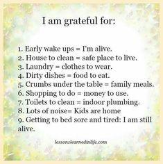 I am grateful for:                                                       …