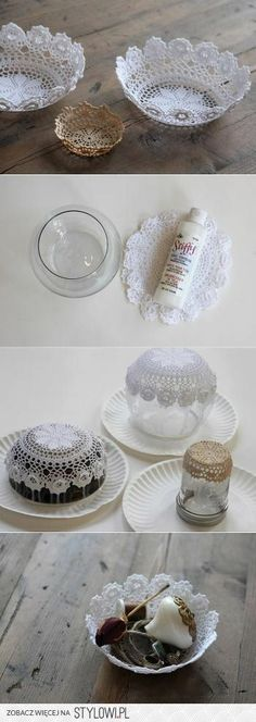 balls decorated with laces!