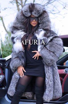 PLATINUM FOX FUR COAT HOOD CLAS CHINCHILLA RUSSIAN SABLE MINK SILVER JACKET LONG | Clothes, Shoes & Accessories, Women's Clothing, Coats & Jackets | eBay!
