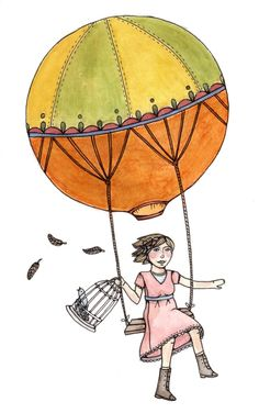 -Brooke Weeber- Balloon Illustration, Another World, Hot Air Balloon, My Eyes, Graphic Design, My Favorite Things, Disney Characters, Ballons, Happy Things