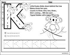 alphabet letter tracing | letter k