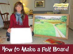 Video- How to Make A Felt (Flannel) Board  http://howtorunahomedaycare.com  #flannelboard #fingerplay #feltboard