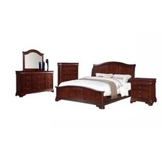 Picket House Furnishings Conley Cherry King Panel 5PC Bedroom Set