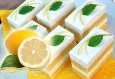 Mírně opilé řezy: Vyzkoušejte gin and tonik řezy s ledovou polevou – Hobbymanie. Cake Recept, Pastry Cake, Feta, Mousse, Cheesecake, Dessert Recipes, Food And Drink, Lemon, Cooking Recipes