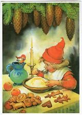 Don't forget the porridge with butter on top for the little folk. Swedish Christmas, Christmas Past, Scandinavian Christmas, Christmas Goodies, Vintage Christmas Images, Retro Christmas, Christmas Pictures, Christmas Illustration, Cute Illustration
