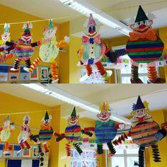 #kunst #grundschule #art #februar #february #fasching #clown #carneval #dekoration #klasse2 #klassenzimmer #classroom #primaryteacher die ersten vorbereitungen für die faschingsfeier am montag