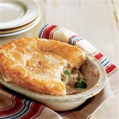 Turkey and Stilton pie recipe. This easy pie recipe works really well with leftover chicken or turkey; simply stir in soup.