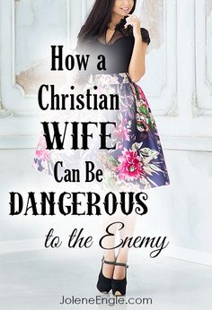 This post is not what you think. In fact, you might wonder if I've gone off the deep end by writing it from this perspective. And, well, if that's what you think, I'm okay with that! I'm not going to tell you that you can be dangerous to the Enemy by be Christ Centered Marriage, Biblical Marriage, Marriage And Family, Marriage Advice, Strong Marriage, Relationship Advice, Fierce Marriage, Marriage Help, Marriage Goals