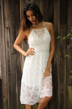 Sweet dress with lace overlay - perfect for graduation! | The Sexiest Graduation Dresses You'll Be Wearing This Season