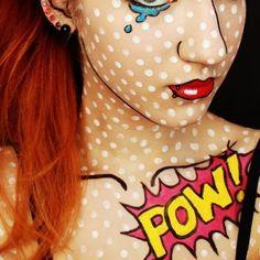 Comic girl makeup   Make-up Kunst   Pinterest   Comics girls ...