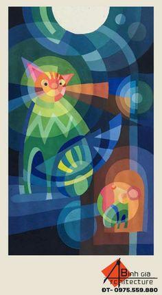 Trang trí áo thun bằng hình tượng con mèo