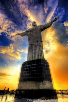 Christ the redeemer at sunset Brazil Rio ~ found on Finding the Universe