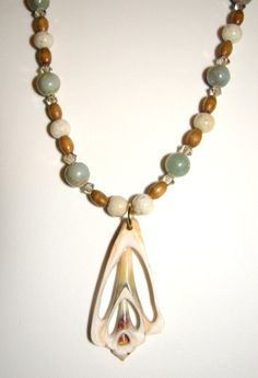 Julia Bristow shell necklace by JuliaBristowEtsy on Etsy