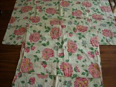 Lot of 2 Vintage Feedsack Fabric Pillowcases