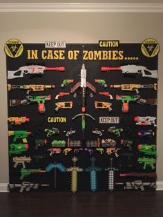 gamer room So many nerf guns--so little time! So here are loads of fun ideas on nerf gun storage so you can get them off the floor and organized! Kids Bedroom, Bedroom Decor, Boy Bedrooms, Bedroom Ideas, Boys Room Ideas, Boys Game Room, Family Game Rooms, Game Room Basement, Bedroom Small