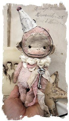 Lil Antique PINK MONKEY by Whendi's Bears