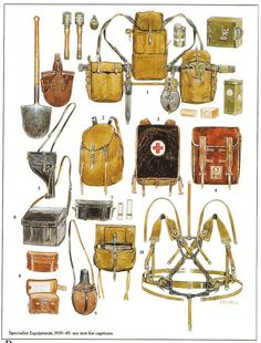 Military Gear, Military Equipment, Military History, Ww2 Uniforms, German Uniforms, Military Uniforms, Leather Bag Tutorial, Army Gears, Ww1 Soldiers