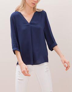 V neck maxi shirt Maxi Shirts, Shirt Blouses, Blouses For Women, Tunic Tops, V Neck, Style Inspiration, Shopping, Clothes, Fashion