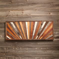 Sunrise - Reclaimed Barn Wood Wall Art, Sunburst, Rustic Modern Décor, Made in America, Made in the USA, Wall Mount, Rustic, Head Board Panel, Twin Bed,