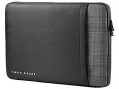 """Puzdro na notebook 15.6"""" - Sleeve - Ochranné púzdro pre notebooky s uhlopriečkou do 15,6"""" Čierna farba so šedým károvaným vzorom. Zapínanie na zips s okamžitým prístupom k notebooku. Štíhly design, materiál odolný voči poškriabaniu. Nápis Hewlett Packard. Možnosť použiť s akýmkoľvek notebookom do 15,6"""". Rozmery: 28.0 x 40.0 x 3.0 cm."""