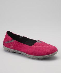 This Cushe Fuchsia Linen Hellyer Slip-On Sneaker - Women by Cushe is perfect! #zulilyfinds