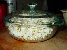 Microwave popcorn without the bag! - COOKING