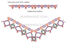 Free pattern for beautiful beaded necklace Margaret - 2-------------------U need: seed beads 11/0 pearl beads 6-8 mm
