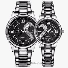Fq-102 Stainless Steel Romantic Pair His and Hers Wrist Watches Men Women Black Set of 2 BUY NOW     $48.99    This his-and-hers watch set is designed for couples, soulmate theme,love will make no sense unless connect two hearts,no matter where you are,you can feel with each other. Love will be everlasting!  Genuine brand, sp ..