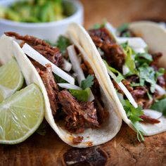 Lamb Barbacoa with Avocado Tacos @keyingredient #vegetables #tomatoes #tacos
