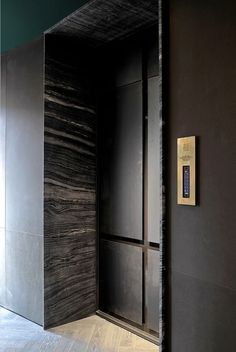 Elevator Inspo for 22 Beech Hill residences & spa. Elevator Inspo for 22 Beech Hill residences & spa. Lift Design, Door Design, Lobby Interior, Interior Architecture, Elevator Lobby Design, Wall Cladding Designs, Elevator Door, Stair Lift, Corridor Design