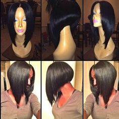 100% Human Hair Laced Closure Blunt Cut by JazzyPerfection on Etsy