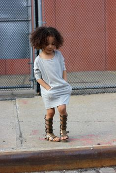 Scout the cutest gladiator sandals for children by this mini fashion blogger, London Scout.