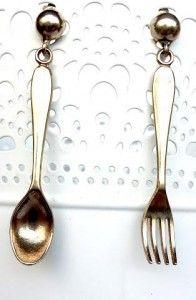 Coco's Room Creations - Orecchini handmade con cucchiaio e forchetta Tableware, Creative, Fashion, Moda, Dinnerware, Fashion Styles, Tablewares, Fasion, Place Settings