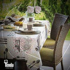 Na #Tenda, estão as melhores opções para você vestir a sua casa com muito charme. Olha essa toalha! Um capricho  pra deixar a mesa mais bonita!