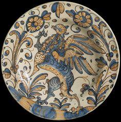 Dish Talavera, Spain  or Puente del Arzobispo, Spain  ca. 1580-1650 (made) Tin-glazed earthenware V&A Search the Collections