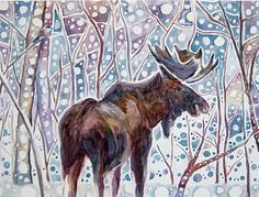 Google Image Result for http://amandafaithart.com/wordpress/wp-content/gallery/paintings-of-alaska/moose-and-chickadee-by-amanda-faith.jpg