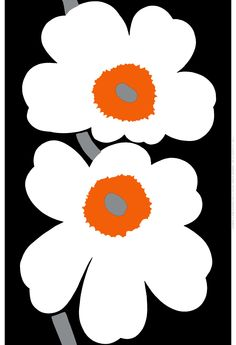 Fabric Designs Marimekko: The Spirit of Unikko. This Finnish design brand has been a success since it begun in Image: Marimekko. Art Mural Tissu, Motif Floral, Floral Prints, Floral Design, Lino Prints, Block Prints, Art Floral, Textile Patterns, Print Patterns