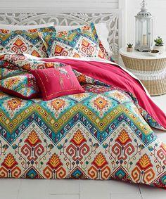 Look what I found on #zulily! Pink Azalea Skye Moroccan Nights Comforter Set #zulilyfinds