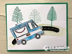 Stampin Up Sale-a-bration Tasty Trucks stamp set