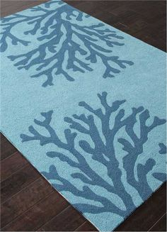 C Branch Out Area Rug Blue On Large Scale Mosaic Dark