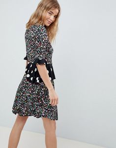 Browse online for the newest ASOS DESIGN Wrap Dress In Mixed Print styles. Shop easier with ASOS' multiple payments and return options (Ts&Cs apply). Fashion Prints, Wrap Dress, Asos, Fashion Dresses, Bohemian, Casual, Closet, Design, Style