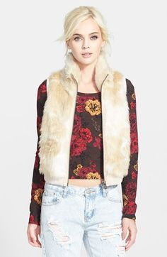 Tildon Faux Fur Vest available at #Nordstrom